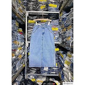 Chân váy jeans xẻ cá tính. Size S M L