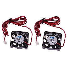 2 Pieces Silent 24V 40mmx40mmx10mm 4010 Brushless Cooling Fan for 3D Printer