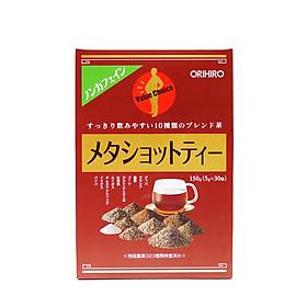 Trà Meta Shot Tea Orihiro Nhật Bản hỗ trợ giảm mỡ bụng hiệu quả, hạn chế tăng cân, 30 gói/hộp - Hàng chính hãng
