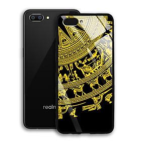 Ốp Lưng Kính Cường Lực cho điện thoại Realme C1 - 03040 7820 TRONGDONG02 - Trống Đồng - Hàng Chính Hãng