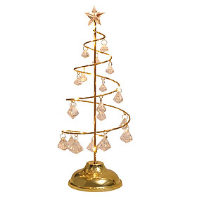 Crystal Christmas Tree Lamp Diamond Pendant Lamp Home Bedroom Decor Bed Lamp Night Light
