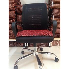 Đệm lót ghế văn phòng hạt gỗ nhãn 12ly (hình thật )