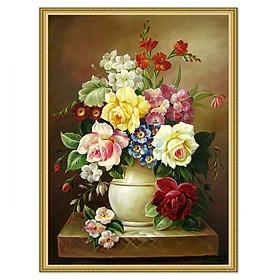 Decal trang trí tường Lọ hoa xuân khoe sắc LunaCV-0343KV