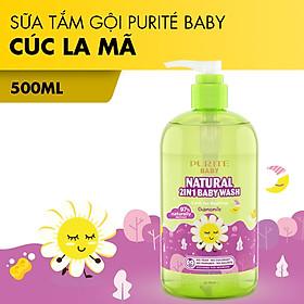 [Hàng Chính Hãng] Sữa Tắm Gội Thiên Nhiên Cúc La Mã Purité Baby 500ml
