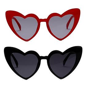 2x Womens Heart Frame Sunglasses Trendy Sun Glasses Shades UV400 Eyewear