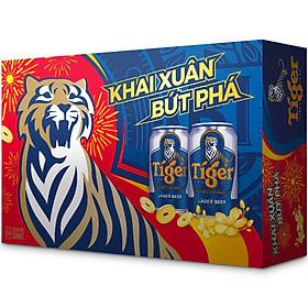 Thùng Bia Tiger 24 Lon (330ml / Lon) - Bao Bì Xuân