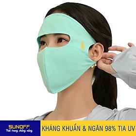 Khẩu Trang Mặt Nạ Vải Kháng khuẩn & Ngăn 98% Tia UV (2 lớp 3in1) - SUNOFF CoolSport