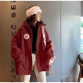 áo khoác thun nỉ ngoại in đầu gấu