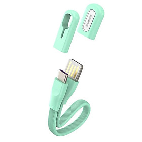 Dây cáp sạc nhanh 5A USB-A to Type-C dạng vòng đeo tay thời trangdài 22cmhiệu Baseus Bracelet cho điện thoại / Macbook tốc độ truyền tải dữ liệu cao 480Mbps) - Hàng nhập khẩu