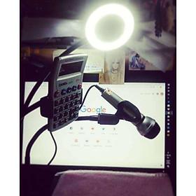 Đèn Led Livestream Full Phụ Kiện, Gồm Chân Đèn Và Kẹp Điện Thoại. Hỗ trợ Livestream, Phun Xăm, Make Up