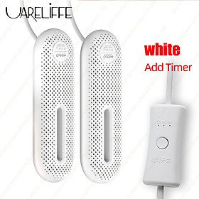 Uareliffe Shoe Dryer Portable Household Electric Sterilization Dehumidification Deodorization Dryer Constant 60°C Temperature Heating Drying Tool With Work lndicator Light And Double-sided Vent Design For Home Travel