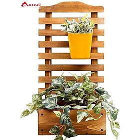 Kệ gỗ treo tường trang trí ban công treo chậu hoa, cây cảnh phong cách hiện đại KBC-7430