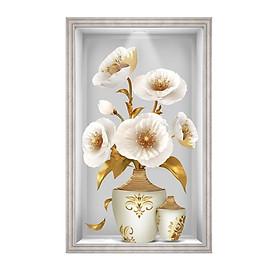 Decal dán tường ô tường lọ hoa đẹp LoHoaDon_016