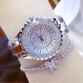 Đồng hồ nữ đính đá pha lê cao cấp (Trắng)