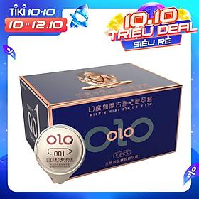 Bao cao su 0.01 OLO xanh, siêu mỏng, mát lạnh, kéo dài thời gian quan hệ - Hộp 10 bcs
