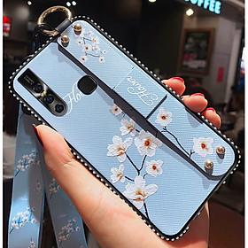 Ốp lưng điện thoại dành cho Vivo V15 đính đá có giá đỡ