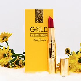 Son GOLD Matte Lipstick 2in1 Mini Garden Màu Đỏ Cam-3