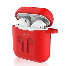 Bao case silicon cho Apple Airpods 1 / 2 hiệu Rock Carying Case (Đính kèm dây nối chống mất) - Hàng nhập khẩu