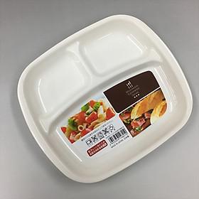 Khay ăn chia 3 ngăn cho bé - Hàng nội địa Nhật