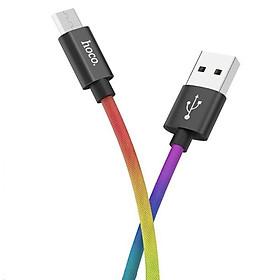 Cáp sạc nhanh Micro USB Hoco, hỗ trợ sạc nhanh 3A, dây sạc bọc dù chống rối, chống đứt, dài 100cm dành cho Samsung, Huawei, Xiaomi, Oppo, Sony, X26 Plus - Hàng chính hãng