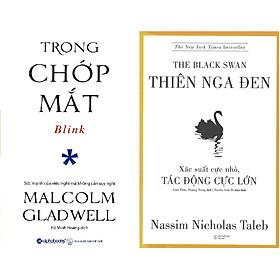 Bộ Sách Về Tư Duy Cực Kỳ Thú Vị ( Trong Chớp Mắt + Thiên Nga Đen ) Tặng Kèm Bookmark Tuyệt Đẹp
