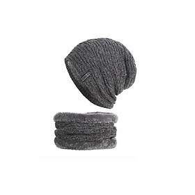 Bộ Mũ len, nón len trùm đầu và trùm cổ Care A022