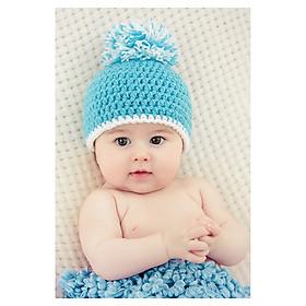 Tranh treo tường em bé đáng yêu baby cute treo phòng bà bầu BB0015 viền trắng