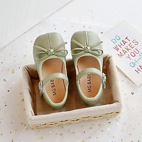 Giày búp bê bé gái 1 - 5 tuổi da mềm gắn nơ dễ thương phong cách Hàn GE71