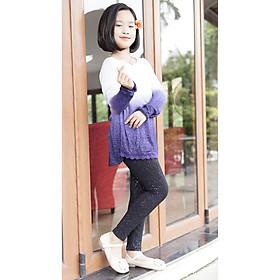 Áo thun dài tay (mầu xanh pha), chất liệu len tăm mỏng, co giãn 4 chiều, không bai xù, thoải mái, cho size từ 15 - 65kg!