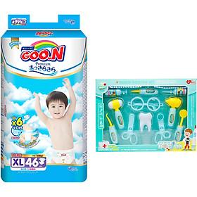 Tã Dán Goo.n Premium Gói Cực Đại XL46 (46 Miếng)- Tặng Bộ đồ chơi bác sĩ