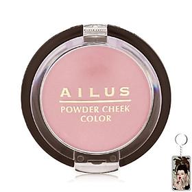 Phấn má Naris Ailus Powder Cheek Color Nhật Bản 3.5g (#Pk1 Hồng tinh túy) + Móc khóa