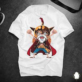 Áo thun Luffy mũ rơm   Áo phông cotton tay ngắn unisex in hình hoạt hình One piece nam nữ bận thoải mái