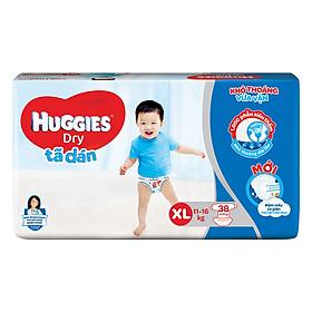 Tã Dán Huggies Dry Gói Đại XL38 (38 Miếng) - Bao Bì Mới