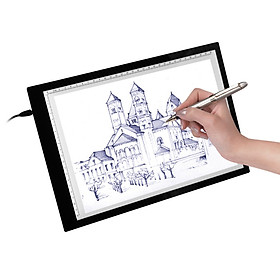 A4 LED Light Box Tracer with Scale Ultra-thin USB Powered Tracing Light Pad Board for Artists Kids Drawing Sketching Animation X-r