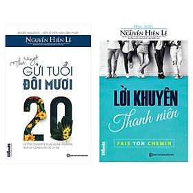 Combo 2 cuốn Thư ngỏ tuổi đôi mươi + Lời khuyên thanh niên ( tặng 1 giá đỡ iring dễ thương )
