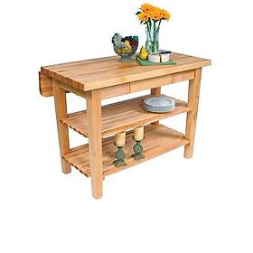 kệ gỗ phòng tắm 3 tầng gỗ tự nhiên chống ẩm mốc, chống thấm nước, kiểu dáng cổ điển, dễ lau chùi, linh hoạt di chuyển