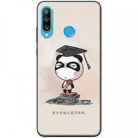 Ốp lưng dành cho Huawei P30 Lite mẫu Panda mọt sách