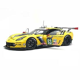 Xe Mô Hình Chevrolet Corvette C7.R Le Mans 24 Hrs 2016 #63 Autoart - 81605 (Vàng)