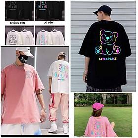 Áo Thun Unisex Tay Lỡ Phản Quang Gấu 7 Màu Áo Phông Đủ Màu - Chất Thun Cotton Nam Nữ Couple Freesize T -shirt - ÁO KHOÁC HIỀN LINH