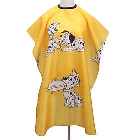 Áo Choàng Cắt Tóc Cho Bé Hình Chó Đốm Xanh Vàng