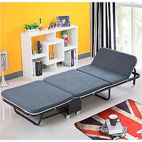 Giường gấp đa năng gấp gọn NIKITA, khung thép sơn tĩnh điện, xếp gọn thành ghế sofa,  có bánh xe