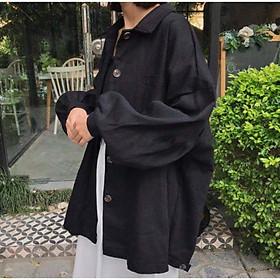 Áo khoác sơ mi nam nữ mặc, áo khoác chống nắng chất kaki