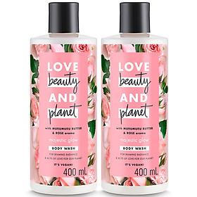 Combo 2 Chai Sữa Tắm Làm Sáng Da Love Beauty And Planet 400Ml