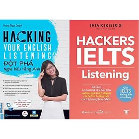 Combo Đột Phá Ielts - Listening: Tăng Cường Khả Năng Nghe Siêu Tốc Với Phương Pháp Active Listening và Speed Listening  ( Hackers IELTS : Listening + Hacking Your English Listening ) tặng kèm bookmark Sáng Tạo