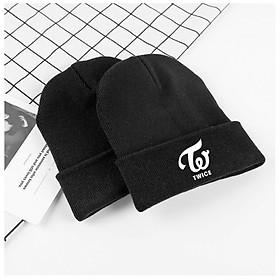 Mũ len Twice nón đen