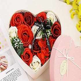 Hình ảnh Hoa hồng sáp thơm hộp trái tim