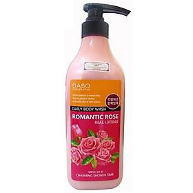 Sữa Tắm Trắng Mịn Da Sạch Nhờn Hương Hoa Hồng Cao Cấp DABO ROMANTIC ROSE Hàn Quốc 750ml