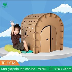 MFK01 - 100x84x78 cm - Nhà giấy carton lắp ráp cho bé