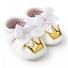 Giày tập đi công chúa cho bé gái 0-18 phối nơ đáng yêu – TD3
