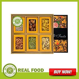 Hộp Quà Sức Khỏe: 6 Loại Hạt Dinh Dưỡng & Trái Cây Sấy Real Food Store